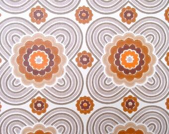 full roll vintage wallpaper / original European wallpaper / Tapete / Prilblumen / behang