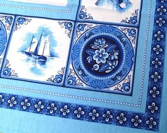 "original Dutch 70s kitchen tablecloth / Netherlands / vintage / ±140x105cm / ±55""x40"""