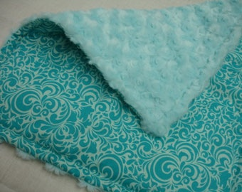 Summer Breeze Rose Cuddle Baby Lovey 14 x 16 READY TO SHIP On Sale