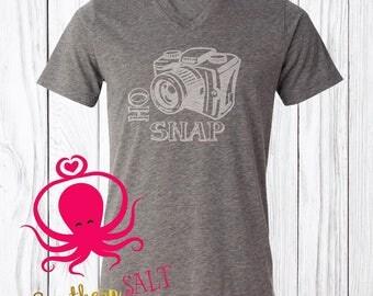 Oh Snap Adult Photographer T Shirt - Camera Shirt - Photography Shirt