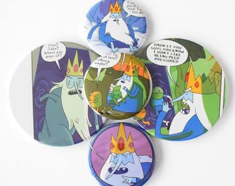Adventure Time Ice King Comic Book Magnets Set of 5