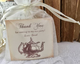 Thank You Tea Party Favors, Teapot Fully Assembled Set of 10
