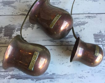 Vintage Brass and Copper Whiskey Rum Warmers - Hot Toddy