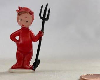 Miniature Devil Halloween Decoration Figurine Plastic Craft Diorama Fairy Garden Supply