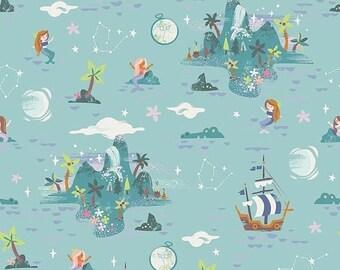 ON SALE Riley Blake Designs Neverland Island Mint