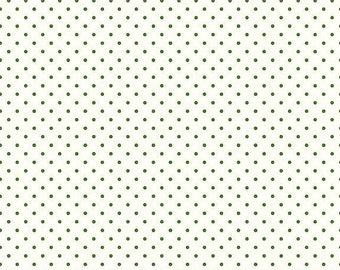 EXTRA15 Riley Blake Basic Clover Swiss Dots on White