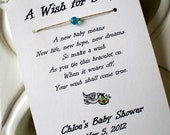 40 A Wish for Baby - Wish Bracelet Party Favor Custom Made for You
