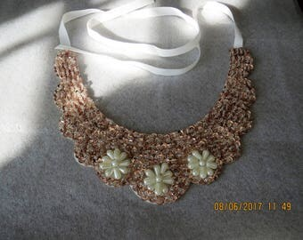 Sequins and pearl necklace