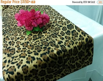 ON SALE LEOPARD Linens Colors - Table Runner-or Napkins -or Placemats - brown black, pink, purple, hot pink,  animal print Wedding Bridal Ho