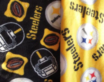 Steelers NoSew Fleece Blanket