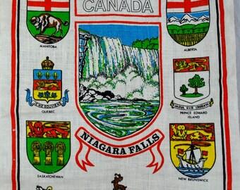 Canada Niagara Falls Souvenir Linen Towel - Canadian Provinces Skemo
