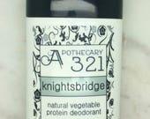 Knightsbridge Vegan Natural Deodorant, Aluminum Free, Paraben Free Masculine Scented Deodorant For Men
