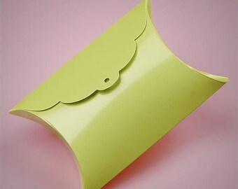 STOREWIDE SALE 10 Tab Top Pillow Boxes 3 and 7/8 X 1 and 3/8X 3 and 7/8 Inch Size  Great Packaging for Gifts, Party Favors, and More