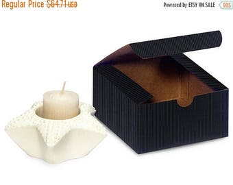 New Years Sale 100 Pack Matte Pinstripe Paper Tuck Top Style Packaging Retail Gift Boxes 4X4X2 Inch Size