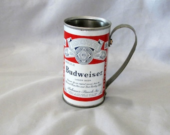 Budweiser  Beer can made into a mug