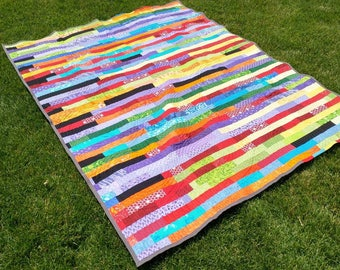 Rainbow Strip Quilt