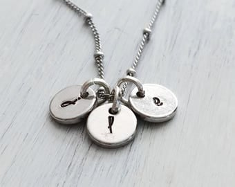 Initial Charm Necklace For Mom Grandma Sister Friend - Size Small Charms