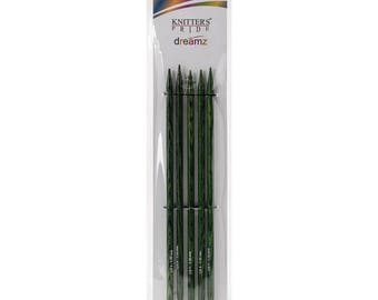 Double Point Needles Size 9 Knitters Pride Dreamz Birch Wood Knitting Double Point Needles 8 inch Long Set of 5 needles