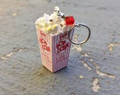Popcorn & Commentary: Individual Retro Style Movie Theatre Popcorn Stitch Marker for Knitters and Crocheters