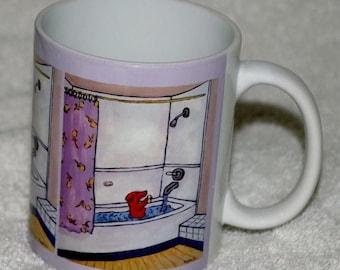 20% off dachshund taking a bath dog art mug cup 11 oz dog art mug cup 11 oz gift