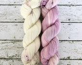 FLIRT + OBSESSION KIT - Hand Dyed Yarn - High Twist Merino Nylon Sock Yarn Fingering - Ready to Ship - Vivid Yarn Studio