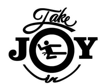 BACK to SCHOOL SALE Take Joy In Karate Decal