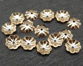 10 pcs Gold Filled Flower Bead Cap 7mm (CG8253)