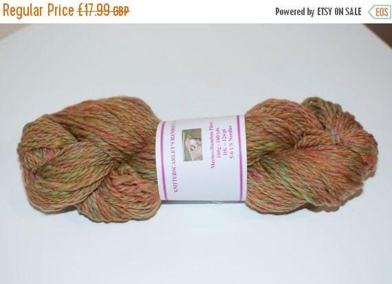 Christmas In July Merino/Bamboo Handspun Yarn in Autumn Colours 100g/160yds