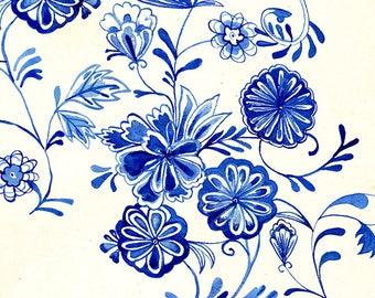 Floral Forms No.3 Wall Art Print botanical illustration