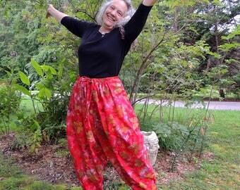 Boho Harem Pants, Hammer Pants, Sufi Pants, Low Crotch Pants, Aladdin Pants