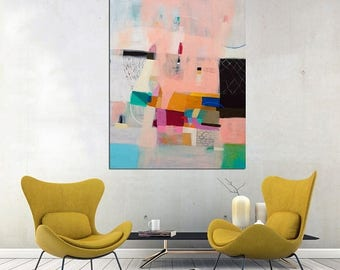 15% OFF Abstract painting, acrylic painting, home decor, wall decor, abstract art, wall art, large canvas painting, abstract canvas 40 x 32