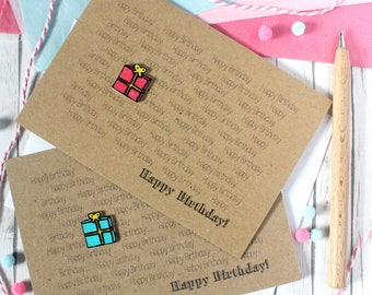 Handmade Happy Birthday Card. Happy Birthday Card. Birthday Card. Birthday Present. Birthday Gift. Pink. Blue. Happy Birthday Card. Gift