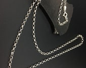 24 inch 3 mm Sterling  Silver Rolo. Chain
