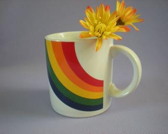 Coffee Mug, Rainbow Mug. Rainbow Coffee Mug, Rainbow Tea Cup, Pride Mug, Pride Coffee Mug