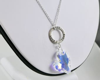 Love's Infinity Necklace - Crystal AB Large