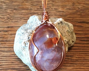 Jasper/Agate in Copper Pendant