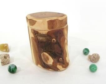 Pacific Yew Tree Branch Wooden Box, pet urn, small urn, engagement ring box, proposal box, wedding ring box, wood anniversary