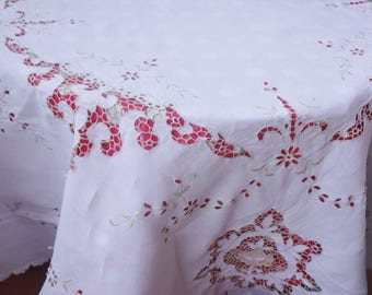 beautiful cotton lace tablecloth 52x52 inches