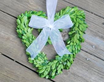 Boxwood Wreath - Preserved Boxwood Wreath - Heart Boxwood Wreath - Boxwood Wreaths - Preserved Boxwood - Wedding Decoration - Wreaths