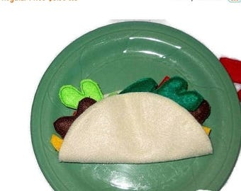 SALE PRETEND PLAY Felt Bean Or Meat Taco #Pf2551