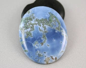 10% OFF SALE Owyhee Blue Opal - Cabachon - Blue Opal - 49mm