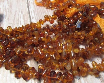 SALE Out Of TOWN Madeira Citrine Briolette Beads Natural,  6mm 8mm 10mm Citrine Beads, Natural Gold Orange Gemstone