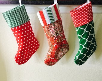 PERSONALIZED CHRISTMAS STOCKING - Your Choice Christmas Stocking,  Custom Christmas Stocking, Large Christmas Stockings