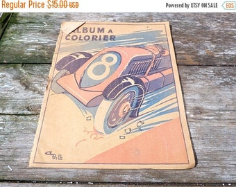 ON SALE Vitage 1930/30s French Album a colorier coloring book