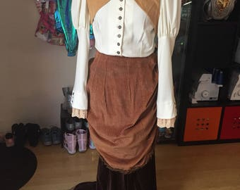 Steampunk formal Victorian costume cosplay PREOWNED