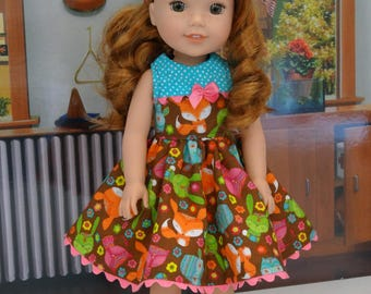 Cheerful Animals - Dress & shoes for Wellie Wisher doll