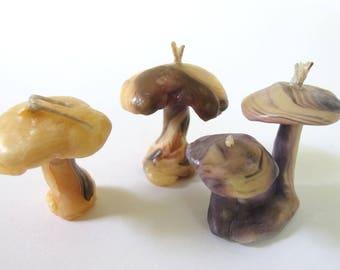 Vintage Handmade Mushroom Candles,