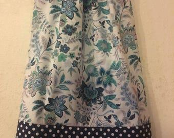 pillowcase dress, navy floral dress, pillowcase dress sizes 3,6,9,12,18 months , 2t, 3t, 4t, 5t, 6, 7, 8,9, 10, 12.14