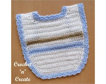 Baby Bib Crochet Pattern (DOWNLOAD) CNC79