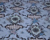 So Shabby Chic French Look Floral- Stunning New Old Stock Vintage Fabric Feminine Romantic Turquoise (Reserved)